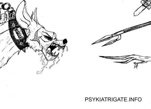 Psykiatrigate Karrikatur 5